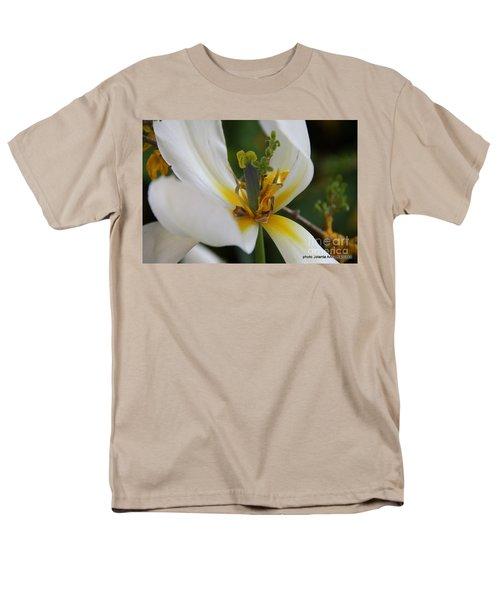 Men's T-Shirt  (Regular Fit) featuring the photograph London White Tulip by Jolanta Anna Karolska