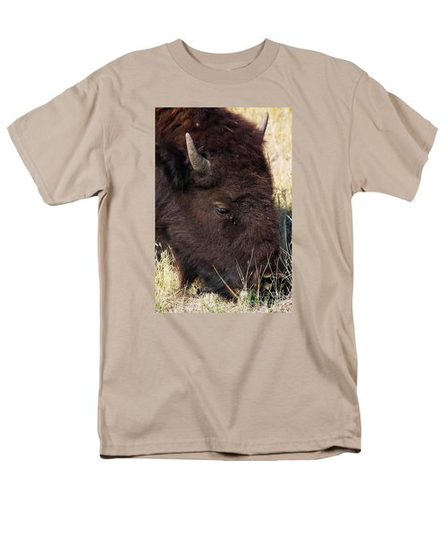 Lonely Bison Men's T-Shirt  (Regular Fit) by Janie Johnson
