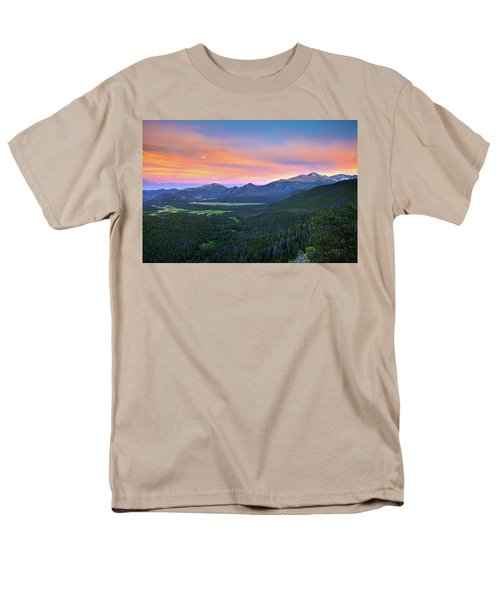 Longs Peak Sunset Men's T-Shirt  (Regular Fit) by David Chandler