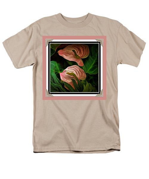 Men's T-Shirt  (Regular Fit) featuring the mixed media Longwood Lilies by Trish Tritz