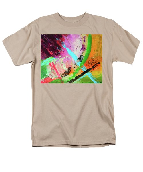 Men's T-Shirt  (Regular Fit) featuring the painting Looking Back by Everette McMahan jr