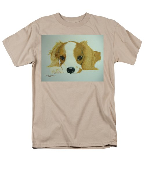 Men's T-Shirt  (Regular Fit) featuring the painting Lovable Puppy by Norm Starks
