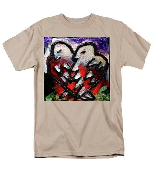 Men's T-Shirt  (Regular Fit) featuring the painting Love Birds by Genevieve Esson
