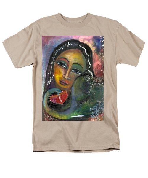 Love Can Draw An Elephant Through A Key Hole Men's T-Shirt  (Regular Fit) by Prerna Poojara