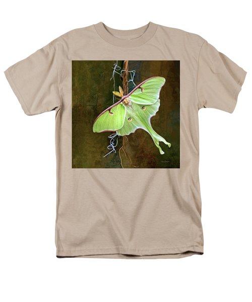 Men's T-Shirt  (Regular Fit) featuring the digital art Luna Moth by Thanh Thuy Nguyen