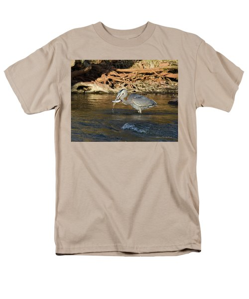 Men's T-Shirt  (Regular Fit) featuring the photograph Lunch On The Neuse River by George Randy Bass