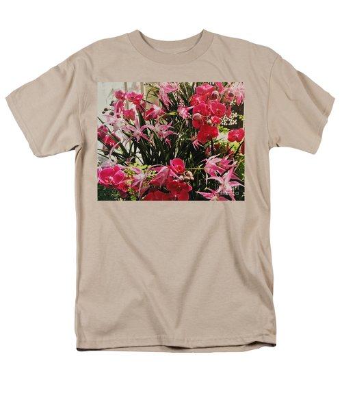 Magenta Orchid Garden Men's T-Shirt  (Regular Fit)