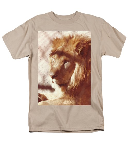 Men's T-Shirt  (Regular Fit) featuring the painting Majestic Lion by Margaret Harmon