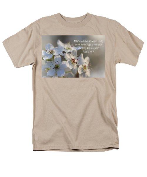 Make A Joyful Noise Unto The Lord Men's T-Shirt  (Regular Fit) by Kathy Clark