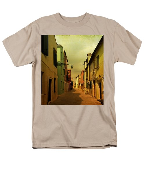 Men's T-Shirt  (Regular Fit) featuring the photograph Malamocco Perspective No1 by Anne Kotan