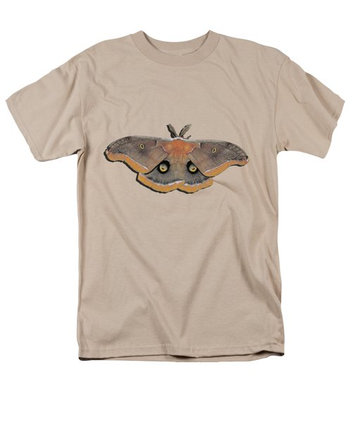 Male Moth Orange And Brown .png Men's T-Shirt  (Regular Fit) by Al Powell Photography USA