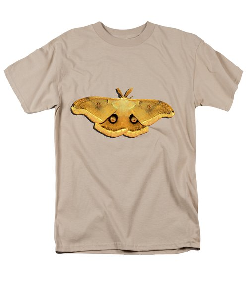 Men's T-Shirt  (Regular Fit) featuring the photograph Male Moth Yellow .png by Al Powell Photography USA