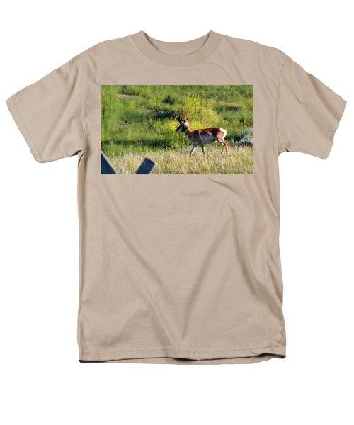Male Pronghorn Men's T-Shirt  (Regular Fit) by C Sitton