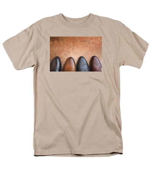 Men's T-Shirt  (Regular Fit) featuring the photograph Male Shoes by Andrey  Godyaykin