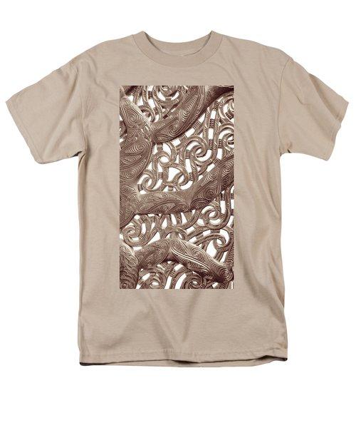 Maori Abstract Men's T-Shirt  (Regular Fit) by Denise Bird