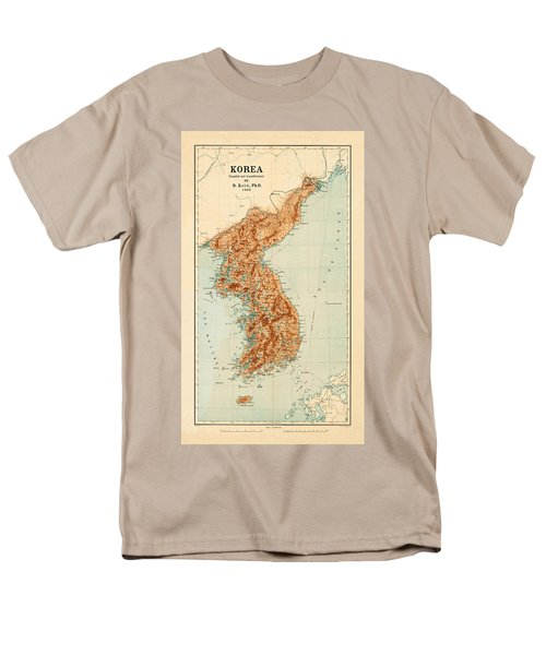 Map Of Korea 1903 Men's T-Shirt  (Regular Fit) by Andrew Fare