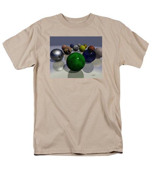 Men's T-Shirt  (Regular Fit) featuring the digital art Marbles by Walter Chamberlain