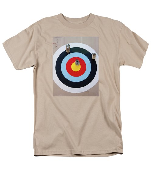 Mark Jenkins Target Mural Men's T-Shirt  (Regular Fit) by Jean Haynes