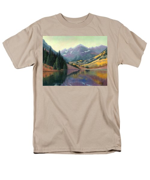 Men's T-Shirt  (Regular Fit) featuring the painting Maroon Bells In October by Janet King