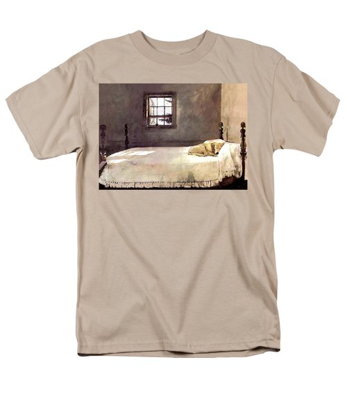 Men's T-Shirt  (Regular Fit) featuring the painting Master Bedroom  by Andrew Wyeth