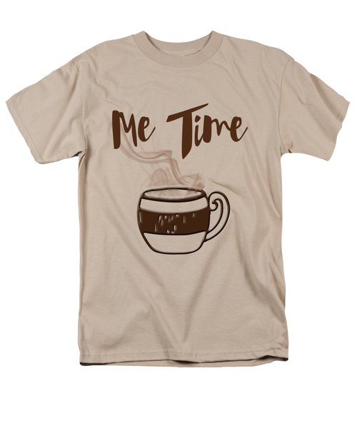 Me Time - Steaming Cup Of Coffee Men's T-Shirt  (Regular Fit) by Joann Vitali