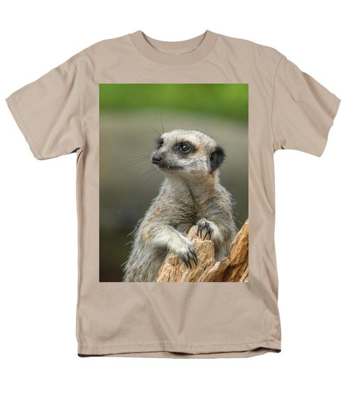 Meerkat Model Men's T-Shirt  (Regular Fit) by Racheal  Christian