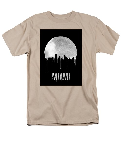 Miami Skyline Black Men's T-Shirt  (Regular Fit) by Naxart Studio