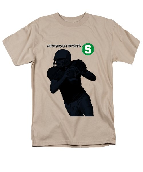 Michigan State Football Men's T-Shirt  (Regular Fit) by David Dehner