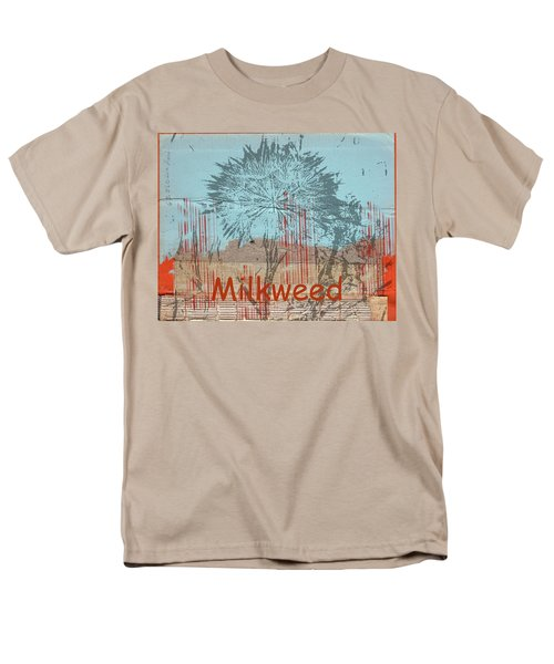 Milkweed Collage Men's T-Shirt  (Regular Fit) by Cynthia Powell