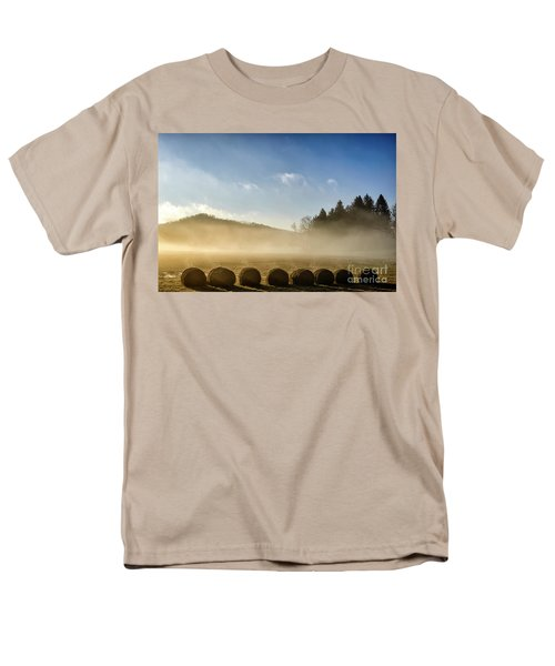 Men's T-Shirt  (Regular Fit) featuring the photograph Misty Country Morning by Thomas R Fletcher