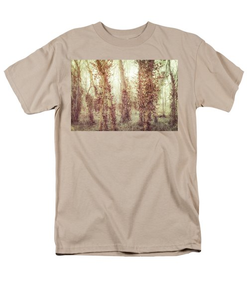 Misty Morning Winter Forest  Men's T-Shirt  (Regular Fit) by Robert FERD Frank