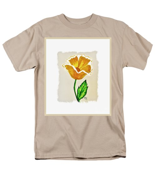 Modern Gold Flower Men's T-Shirt  (Regular Fit) by Marsha Heiken