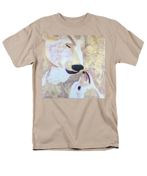 Men's T-Shirt  (Regular Fit) featuring the painting Momma Bear Checking On Her Cub by Donald J Ryker III