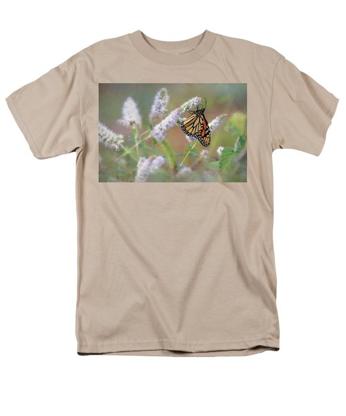 Men's T-Shirt  (Regular Fit) featuring the photograph Monarch On Mint 2 by Lori Deiter