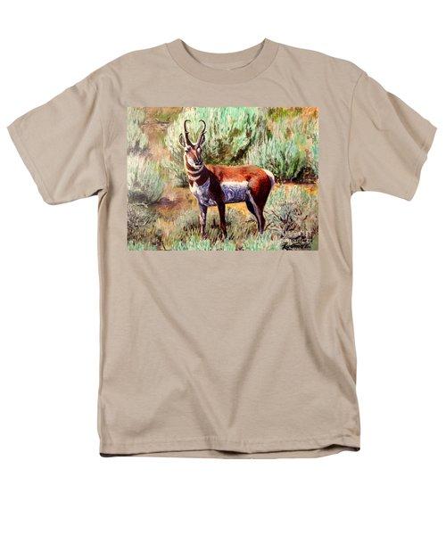 Montana Antelope Buck  Men's T-Shirt  (Regular Fit) by Ruanna Sion Shadd a'Dann'l Yoder