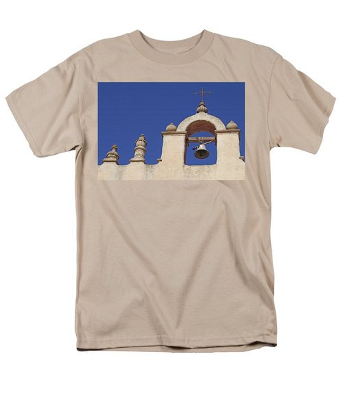 Men's T-Shirt  (Regular Fit) featuring the photograph Montecito Mt. Carmel Church Tower by Art Block Collections