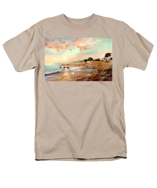 Men's T-Shirt  (Regular Fit) featuring the painting Moonstone Beach California by Michael Rock