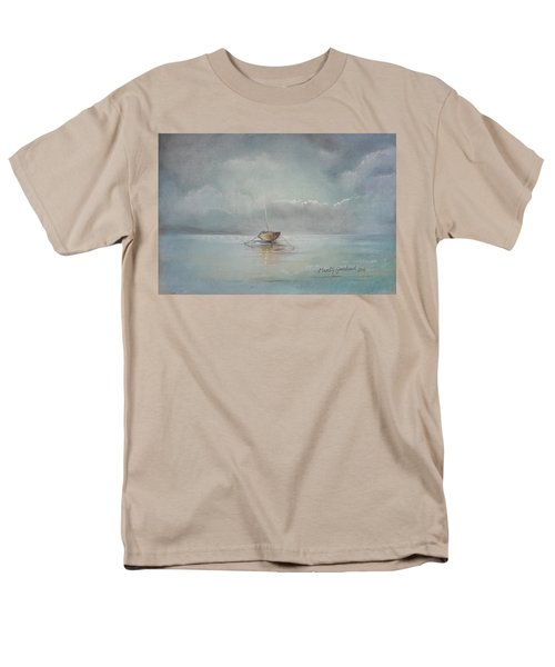 Moored Boat Men's T-Shirt  (Regular Fit) by Marty Garland
