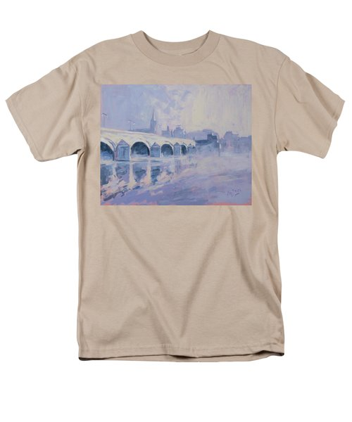 Morning Fog Around The Old Bridge Men's T-Shirt  (Regular Fit) by Nop Briex