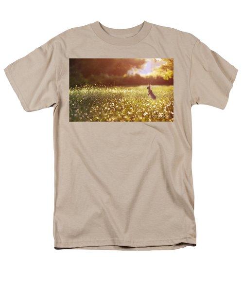 Morning Rabbit Men's T-Shirt  (Regular Fit) by Rima Biswas