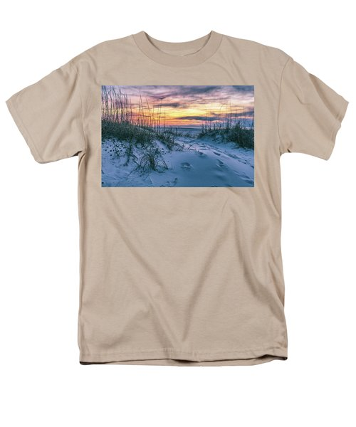 Men's T-Shirt  (Regular Fit) featuring the photograph Morning Sunrise At The Beach by John McGraw