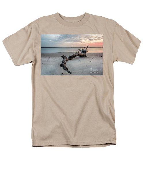 Morris Island Men's T-Shirt  (Regular Fit) by Robert Loe