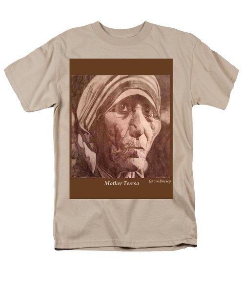 Men's T-Shirt  (Regular Fit) featuring the drawing Mother Teresa  by Gavin Dorsey