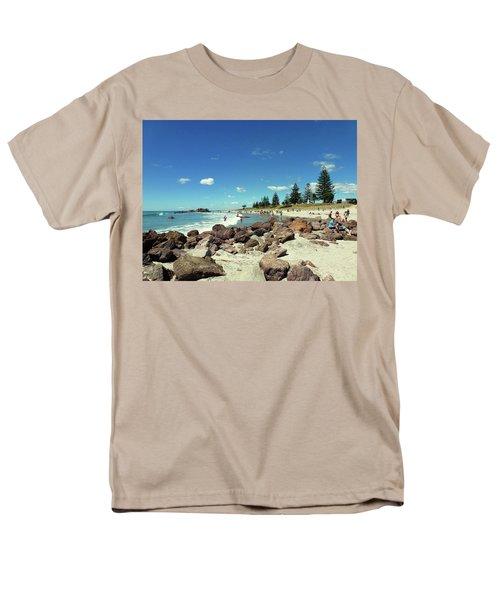 Men's T-Shirt  (Regular Fit) featuring the photograph Mount Maunganui Beach 2 - Tauranga New Zealand by Selena Boron