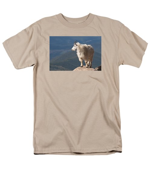 Men's T-Shirt  (Regular Fit) featuring the photograph Mountain Goat by Gary Lengyel