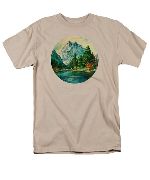 Mountain Lake Men's T-Shirt  (Regular Fit) by Mary Wolf