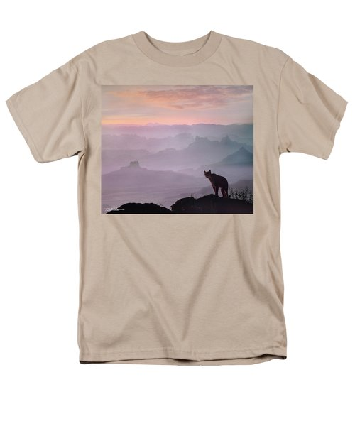 Mountain Lion Men's T-Shirt  (Regular Fit) by Tim Fitzharris