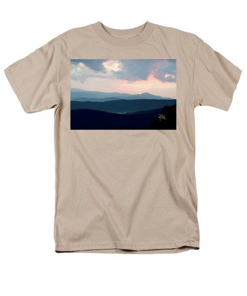 Men's T-Shirt  (Regular Fit) featuring the photograph Blue Ridge Mountain Sunset by Meta Gatschenberger