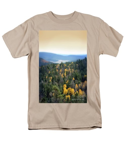 Men's T-Shirt  (Regular Fit) featuring the photograph Mountains And Valley by Jill Battaglia