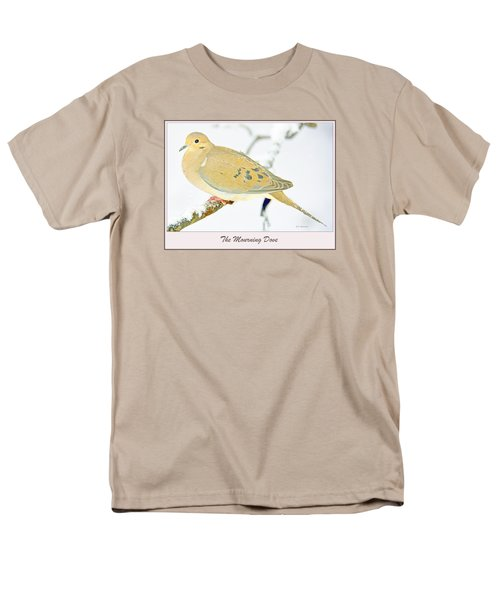 Men's T-Shirt  (Regular Fit) featuring the photograph Mourning Dove In Snow Animal Portrait by A Gurmankin
